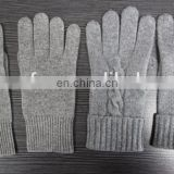 Unisex 100% Knitted cashmere gloves factory wholesale