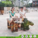 Outdoor Playground Animatronic Animal Dinosaur Rides With Human Control