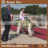 2015 hot sales animatronic walking dinosaur ride for playground