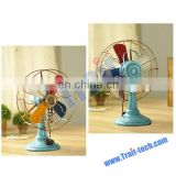High Quality Retro Colorized Fan Handicraft Articles Vintage Fan Props European-style Craft Fan