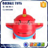 Hot sale children intelligence rc cartoon mini plastic toy airplane with sound
