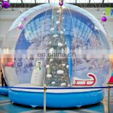 Top quality customized snow globe inflatable/christmas inflatable snow globe/xmas inflatable snow globe