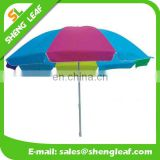 Promotion beach umbrella with 200g polyester in heatransfer printing