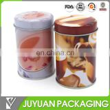 2014 Hot sale Custom high quality color small round tea coffee tin canister cans wholesale