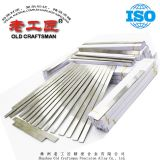 Cemented carbide strip for cutting wall and floor tile