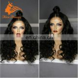 6A Soft Textile Full Thin Skin Cap Human Hair Lace Wig Virgin Long Peruvian Hair Full Lace Wig