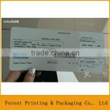 Airline boarding pass,paper airline ticket printing                                                                         Quality Choice