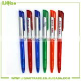 economical press type ball-point pen for promotion with transparent penholder
