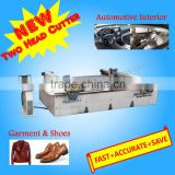 RZCUT-3616-2H Dual-head Oscillation Knife Leather Cutting Machine for Automotive Interior Part Making