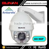 Ambarella A5 150meters ir 30x & 10x optical zoom auto tracking ptz ip camera                                                                         Quality Choice