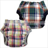 made in Japan products high quality cool check pattern printed cloth diaper baby nappies wholesale for hot selling item