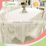 Elegant and noble white milky poly chemical lace fabric for tablecloth                                                                                                         Supplier's Choice