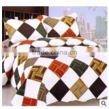 Korean new style patchwork grid bed sheet, bed cover 3pcs