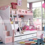 2015 New Design children bedroom furniture cute kids bunk bed with desk and wardrobe                                                                         Quality Choice