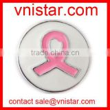 vnistar pink universal breast cancer ribbon snap button NC628-1, fit button ring and button bracelet