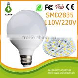 PC Cover g95 LED Bulb plastic 15W Big angle E27 80Lm/w g95 plastic bulb ce led bulb light