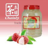 Taiwan Bubble Tea Materials Supply Litchi Cube Shape Fruit Jelly