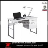 New Desgin Steel Writing Office Desk wooden tv Computer table with drawer