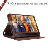10 inch tablet leather case with vertical stand folio flip soft leather case for Lenovo Yoga tablet 3 Pro