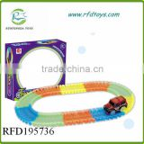 Track toy car with light for kids luminous slot car
