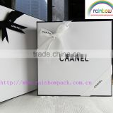 high quality glossy lamination cosmetic box with butterfly accessories