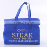 non-woven fabric insulated cooler lunch bag ,ice bag for picnic frozen food ,zipper closure