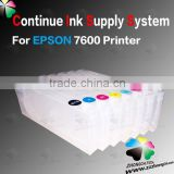 Continuous Ink Supply System for Epson 7600 9600 Printer/Refillable ink cartridgr for Epson 7600 9600 printer