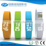 Colorful Silicone LED Watch Bracelet USB Flash Drive, led wristband usb watch, bracelet usb watch                                                                         Quality Choice