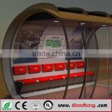 Hot selling!!!!New design metal material led display bus shelter/station/bus stop advertising