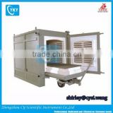 Electric Industrial Furnace 1200C car bottom trolley furnace ceramic chamber trolley kiln