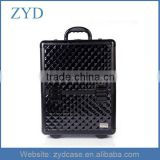 Displaying Rolling Aluminum Cosmetic Makeup Artists Hairdresser Trolley Case ZYD-HZ101508