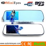 Car rearview 4.3 inch Mirror Blue Screen Tooth DVR and bluetooth rearview mirror handsfree car kit