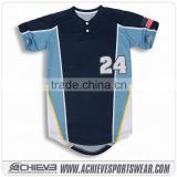 Wholesale custom cheap baseball jersey high quality short sleeves baseball jersey from china supplier