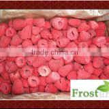 Fresh whole frozen raspberry