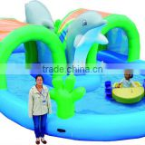 Cheer Amusement children indoor inflatable water game - inflatable airtight dolphin pool