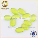 Apple green oval shaped framed glass stone beads, beads for jewelry making colored glass stones                                                                                                         Supplier's Choice