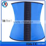 9 spiral steel bones latex waist trainer by made in china wholesale