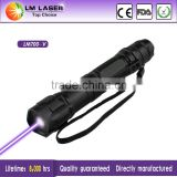 Cheap 100mw 405nm Multi-Pattern Purple Laser Line Pointer Violet Lazer Pen with 5 Pattern Heads Rechargeable Battery and Charger