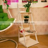 Decoration folding Wooden Plant Stand With four Shelves / Wooden Flower pot Shelf / Plant Rack