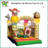 zoo jumping castle trampoline small inflatable baby bounce house