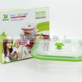 fresh keeping functional LFG and FDA passed foldable food storage ,silicone fresh container,picnic lunch box
