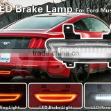 Euro Style Clear Lens 3-IN-1 LED Rear Fog Light Brake/Reverse Light For 2015-up Ford Mustang