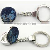 metal round shape solid perfume container /lip gloss keychain, various design, OEM designs accepted.<DKCA9204>
