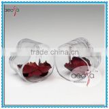 Wholesale Unique Round Clear Heart Shaped Ball Vase For Flower