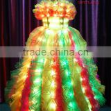 Sexy girls dress light up, Stage LED costumes ballroom, video led costume