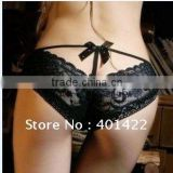 Pierced Butterfly lace sexy underwear sexy ladies panties butterfly tie with diamond lace temperament briefs JPunderwear001