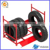 Stackable metal tire storage mobile rack system warehouse equipment