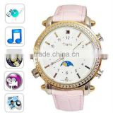 Beautiful women watch wrist watch hidden camera with PC function 4G/8G for lady