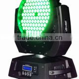 High Brightness DMX DJ Stage lighting 108 x 3W RGBW Wash LED Moving Head light with zoom
