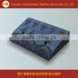 490*325*105mm Black Rubber Road Trailer Motocycle Ramp